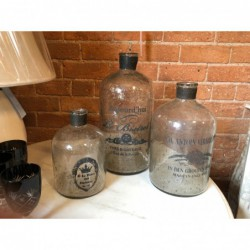 Set of 3 Decorative Glass...