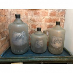Set of 3 Decorative Glass...