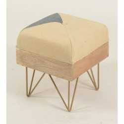 Square Pouffe / Footstool -...