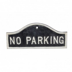 Cast Iron 'No Parking' Sign