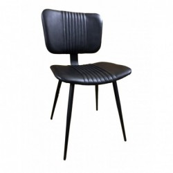 Black Leather Dining Chair...
