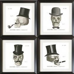 Set of 4 Skull Acrylic Wall...