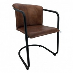 Brown Leather Dining Chair...