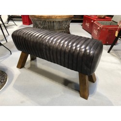 Black Leather Bench Pommel...