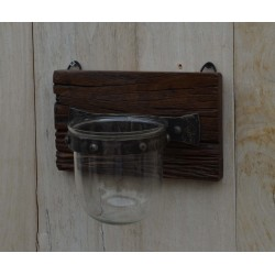 Wooden Wall Sconce with...