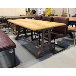 Wooden 'Singer' Dining Table