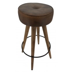 Leather Barstool with...