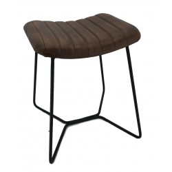 Iron Stool with Genuine...