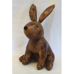 Faux Leather Seated Rabbit...