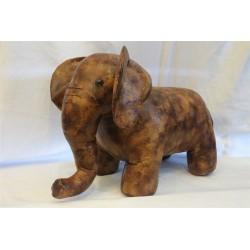 Large Faux Leather Elephant...