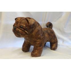 Large Faux Leather Pug Dog...