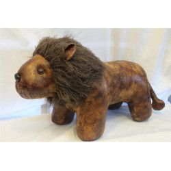 Large Faux Leather Lion...